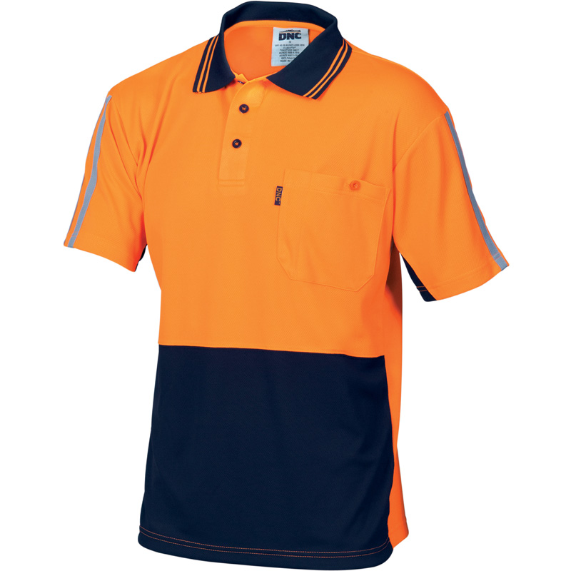 DNC Hi Vis Cool-Breathe Stripe Polo