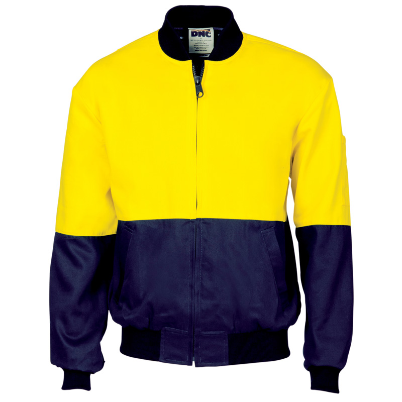 DNC Hi Vis Cotton Bomber Jacket