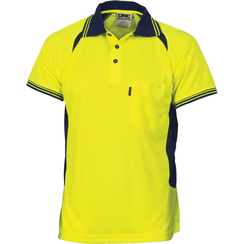 DNC Cool Breeze Contrast Mesh Polo