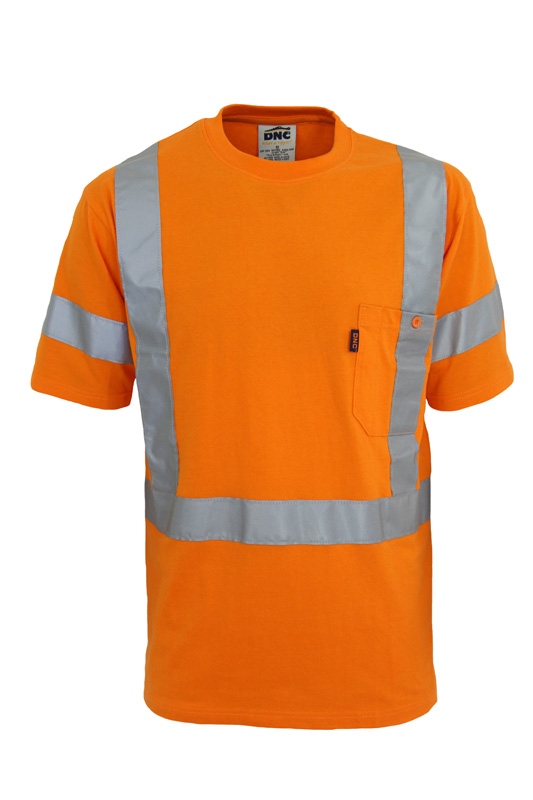 DNC Hi-Vis Cotton Taped Short Sleeve Tee