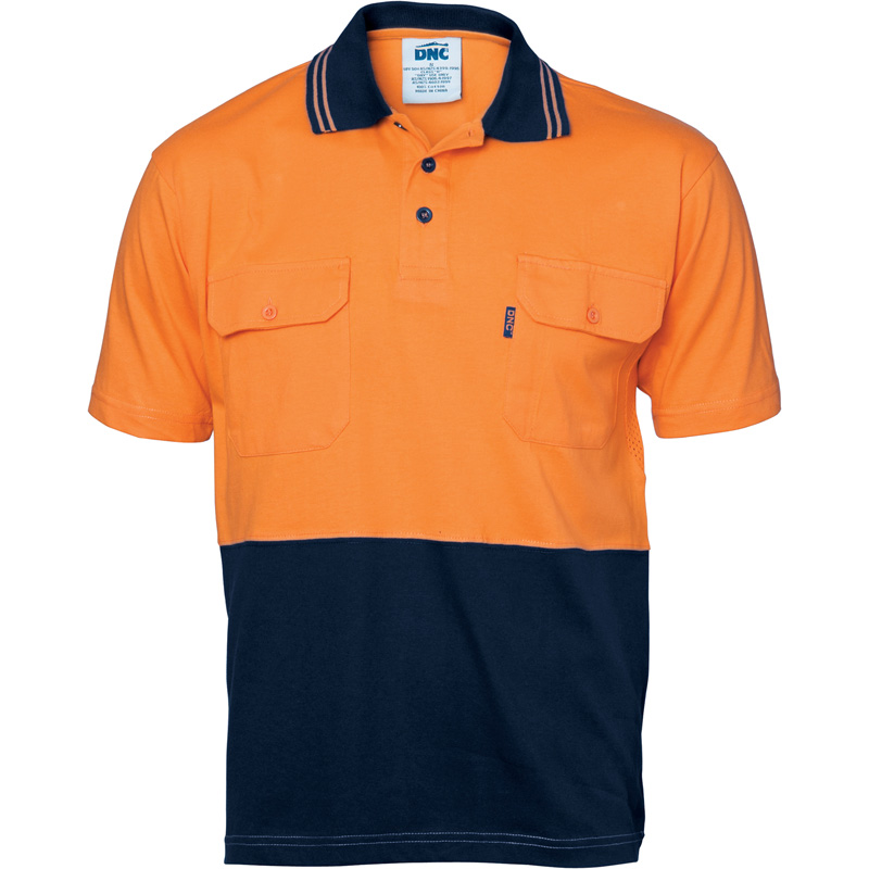 DNC Hi Vis Cool-Breeze 2 Pocket Polo