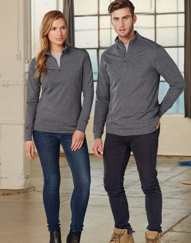 Ultimate Half Zip Long Sleeve Sweat Top