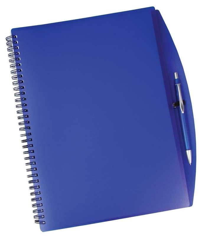 A4 Spiral notebook and pen