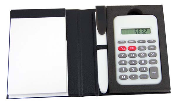 Notepad with Pen & Calculator