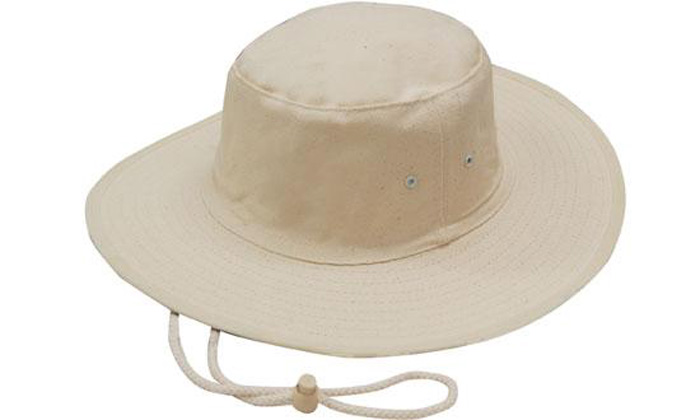 Canvas Hat with Chin Strap