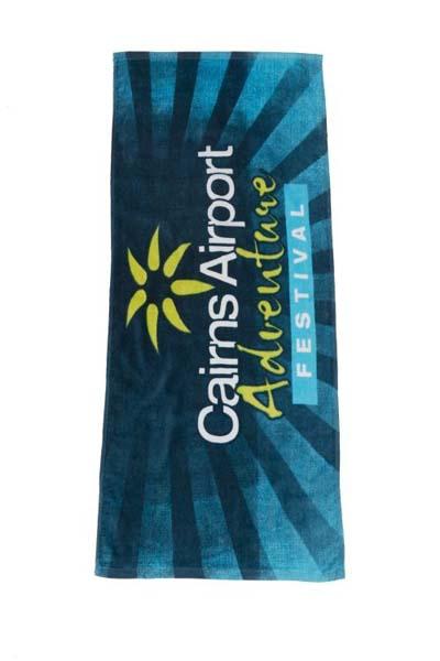 Indent Fibre Reactive Printed Sports Towel - Full Colou