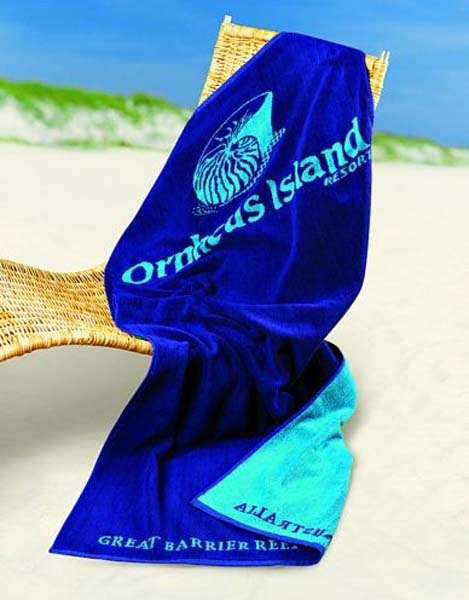 Indent Woven Large Beach towel