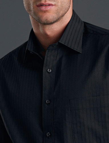 John Kevin Self-Stripe Shirt