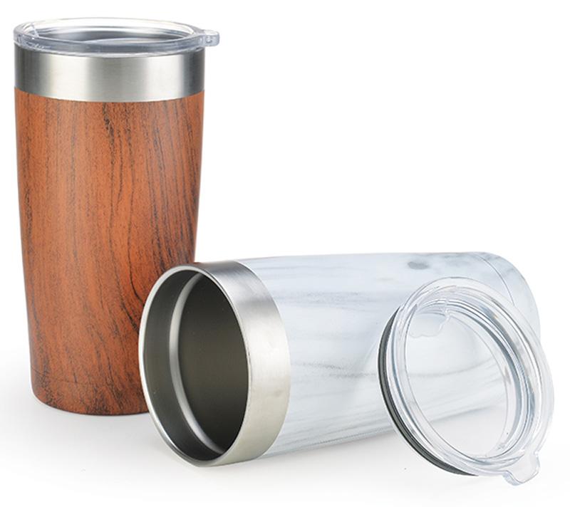 Wood & Marble Vacuum Mug
