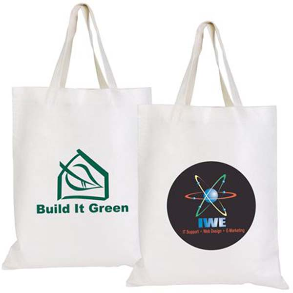 Short Handle Promotional Bamboo Tote Bag