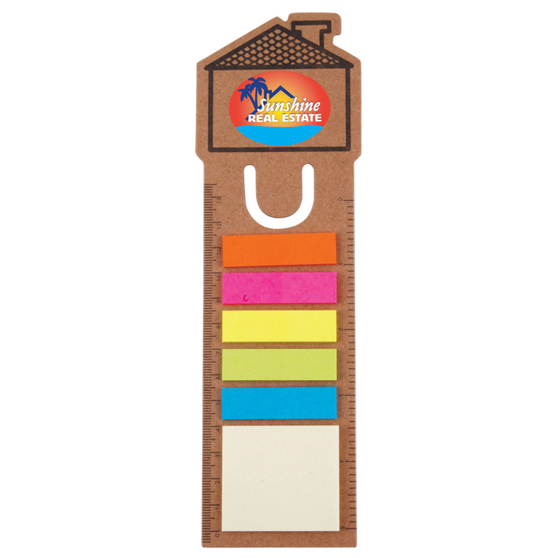 House Bookmark / Ruler with Noteflags