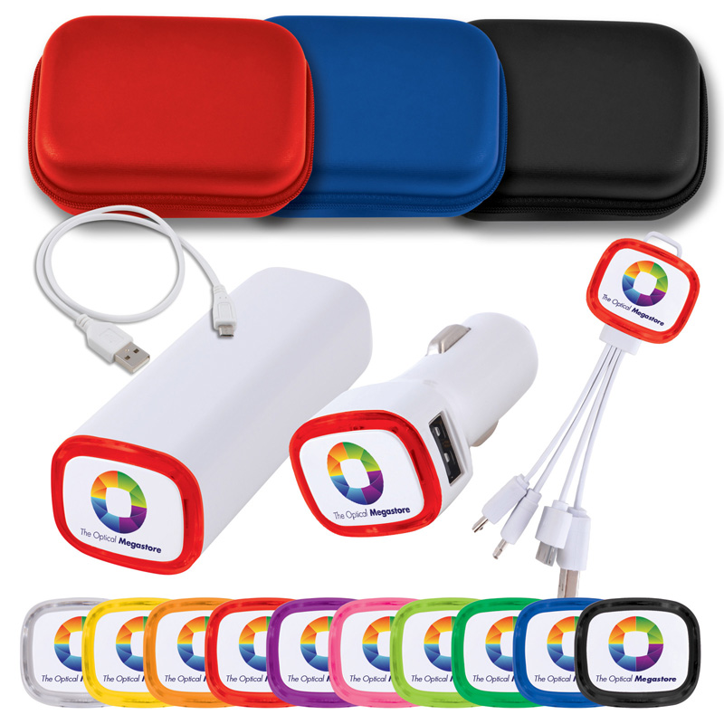 Power Bank, 3 n 1 cable and Car Charger Set