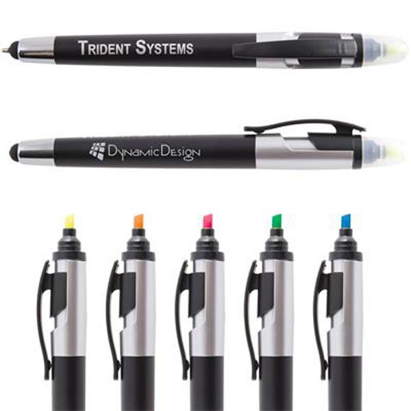 Trident Ballpoint Pen / Stylus Highlight Marker