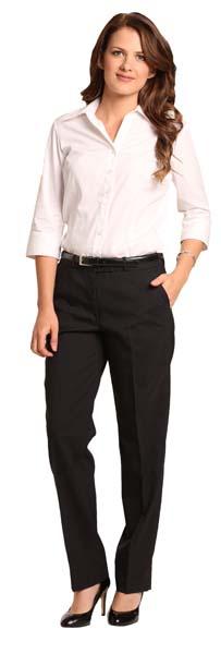 Ladies Wool Blend Slim Pants