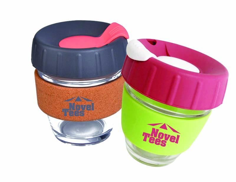 8 OZ Deluxe Reusable Glass Coffee Mug