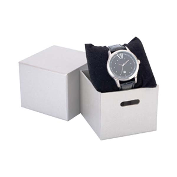 Deluxe Silver Watch Paper Box