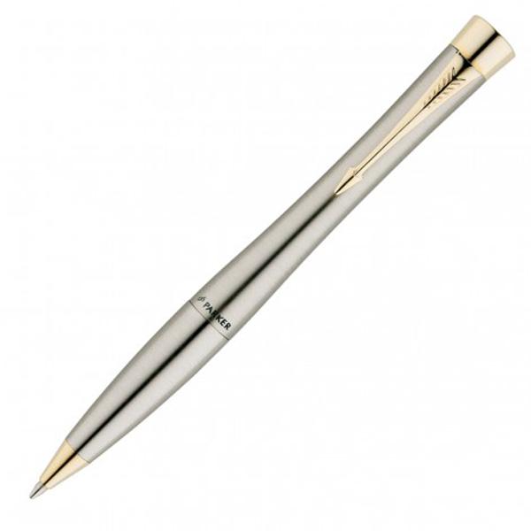 Parker Urban Ballpoint Pen- Brushed Stainless/Gold Trim
