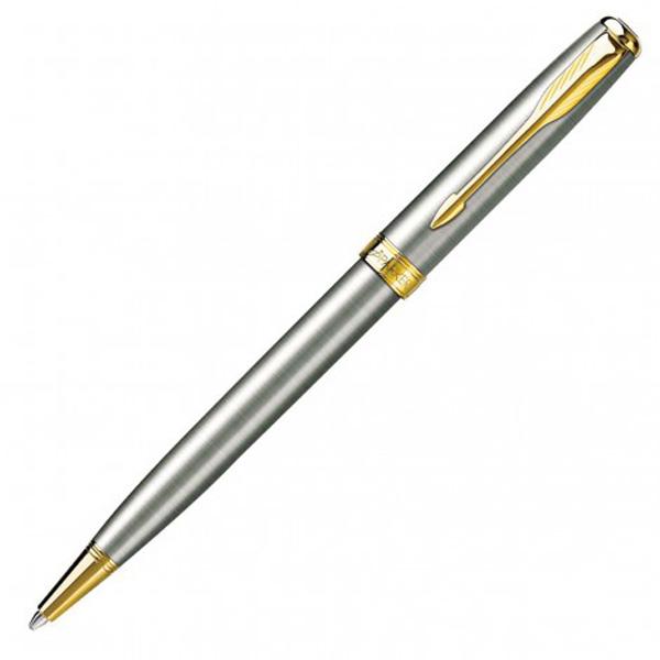 Parker New Sonnet Ballpoint Pen- Brushed Stainless