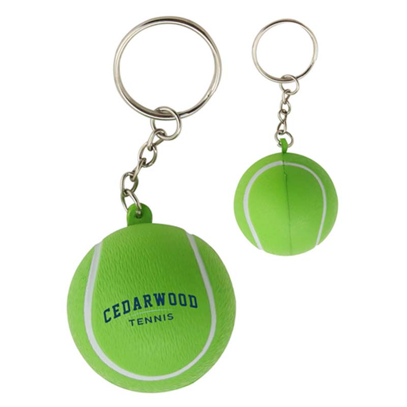 Stress Tennis Ball Keyring
