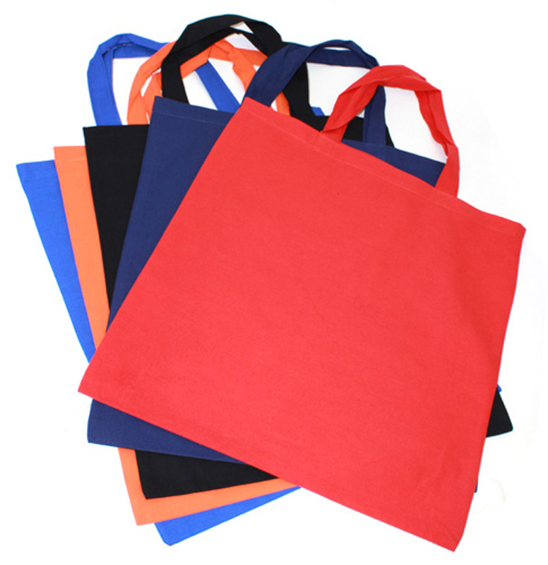 Coloured Calico Bags Short Handle