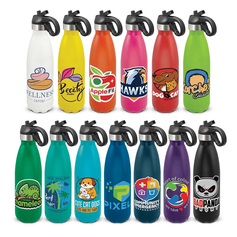 Mirage Powder Coated Vacuum Bottle - Flip Lid