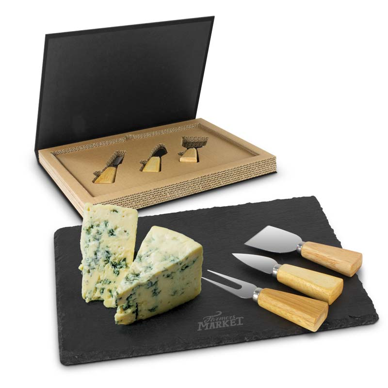 Montrose Slate Cheese Board Set