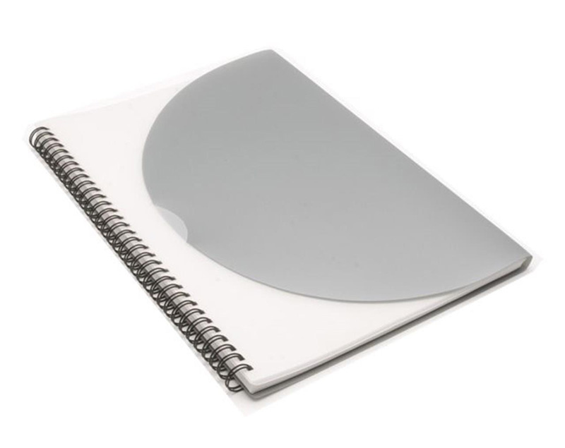 Curve Notepad-Large- Silver A4 DISC