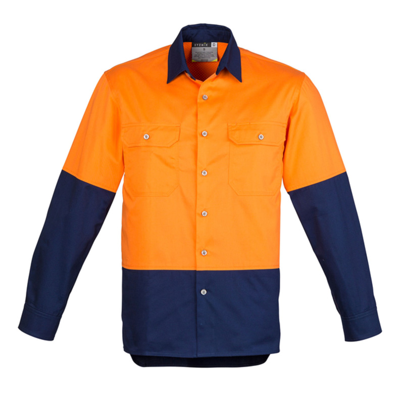 Syzmik Hi Vis Industrial Long Sleeve Shirt