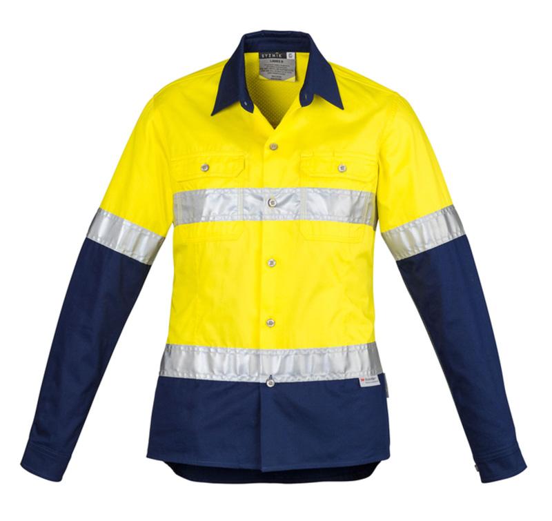 Syzmik Ladies Hi Vis Spliced Industrial Shirt